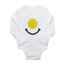 Tennis Smile Long Sleeve Infant Bodysuit