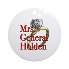 Mrs. General Holden Army Wives Ornament (Round)