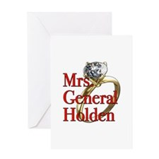 Mrs. General Holden Army Wives Greeting Card
