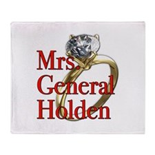 Mrs. General Holden Army Wives Throw Blanket