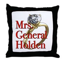 Mrs. General Holden Army Wives Throw Pillow