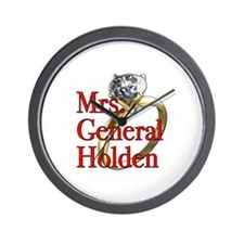 Mrs. General Holden Army Wives Wall Clock
