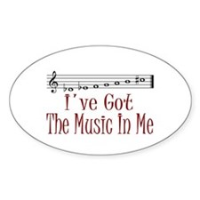The Music In Me Oval Decal
