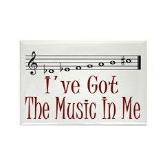 The Music In Me Rectangle Magnet (10 pack)