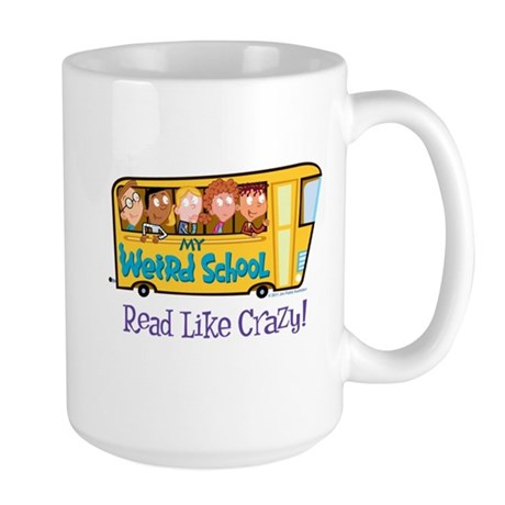 Read Like Crazy! Large Mug