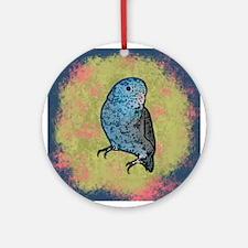 Blue Parrotlet Art Ornament (Round)