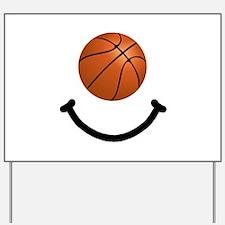 Basketball Smile Yard Sign