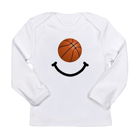 Basketball Smile Long Sleeve Infant T-Shirt