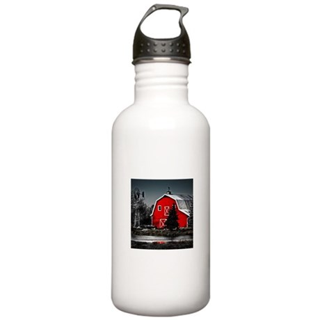 VIBRANT RED BARN Stainless Water Bottle 1.0L