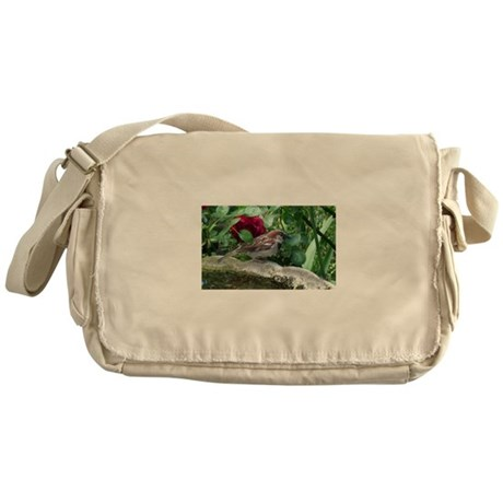 Little Garden Bird Messenger Bag