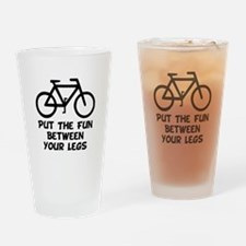 Bike Fun Drinking Glass