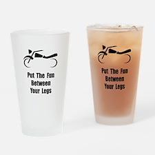 Motorcycle Fun Drinking Glass