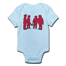 4 Musketeers (rouge) clear bc Infant Bodysuit
