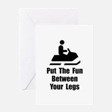 Snowmobile Fun Greeting Card