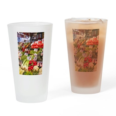 Pike Place Market Drinking Glass