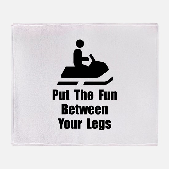 Snowmobile Fun Throw Blanket