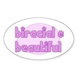 biracial & beautiful Oval Sticker