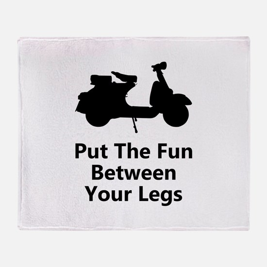 Scooter Fun Throw Blanket