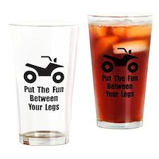 ATV Fun Drinking Glass