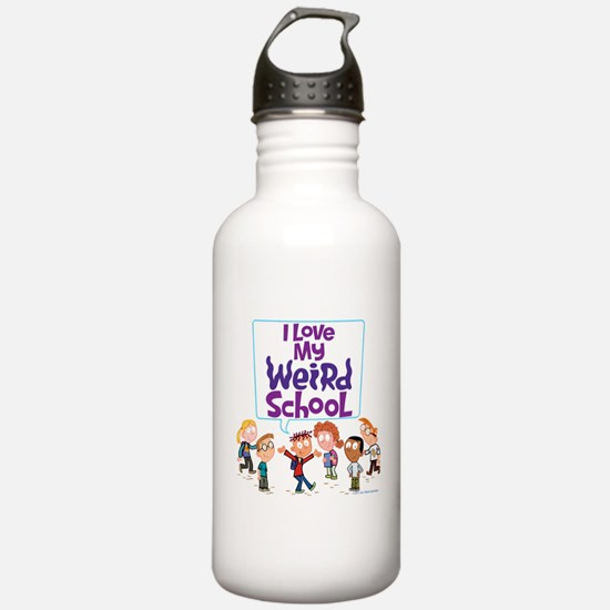 I Love My Weird School! Water Bottle