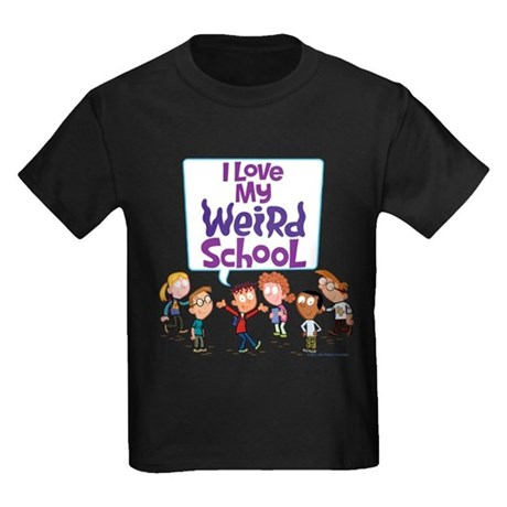 I Love My Weird School! Kids Dark T-Shirt