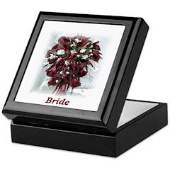 Bugandy Calla Bride Keepsake Box