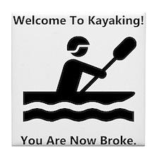 Kayaking Broke Tile Coaster