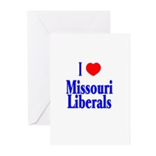 I Love Missouri Liberals Greeting Cards (Package o