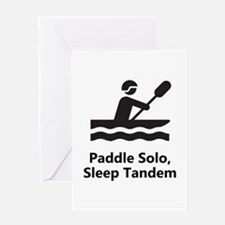 Solo Paddle Greeting Card