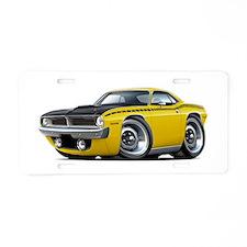 1970 AAR Cuda Yellow Car Aluminum License Plate