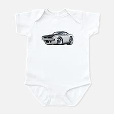 1970 AAR Cuda White-Black Car Infant Bodysuit