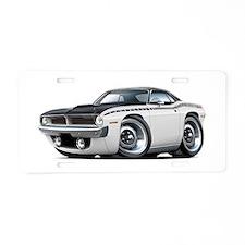 1970 AAR Cuda White-Black Car Aluminum License Pla