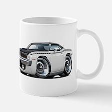 1970 AAR Cuda White-Black Car Mug