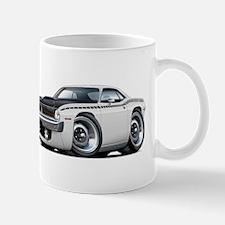 1970 AAR Cuda White Car Mug