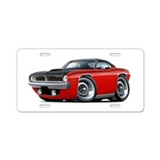 1970 AAR Cuda Red-Black Car Aluminum License Plate