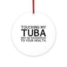Tuba Hazard Ornament (Round)