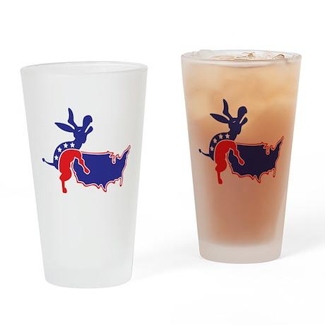 Screwed By An Ass Drinking Glass