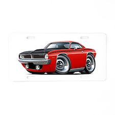1970 AAR Cuda Red Car Aluminum License Plate