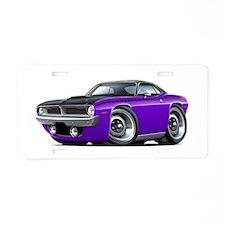 1970 AAR Cuda Purple-Black Car Aluminum License Pl