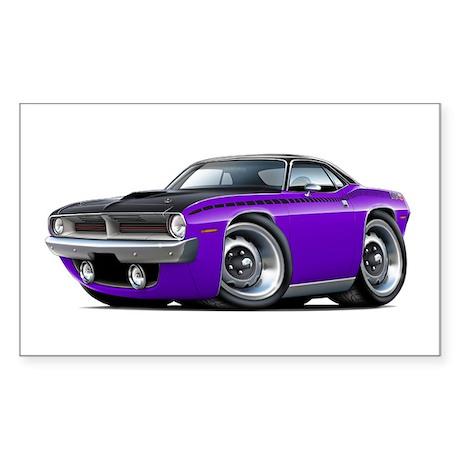 1970 AAR Cuda Purple-Black Car Sticker (Rectangle)