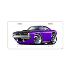 1970 AAR Cuda Purple Car Aluminum License Plate
