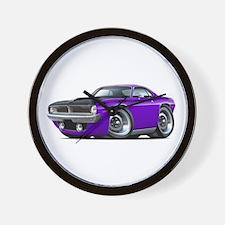 1970 AAR Cuda Purple Car Wall Clock