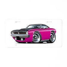 1970 AAR Cuda Pink-Black Car Aluminum License Plat