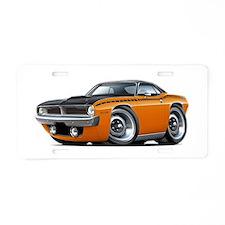 1970 AAR Cuda Orange-Black Car Aluminum License Pl