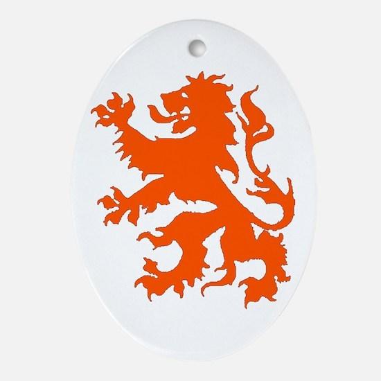 Dutch Lion Ornament (Oval)
