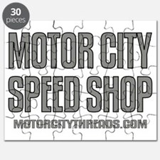 Motor City Speed Shop Logo Puzzle