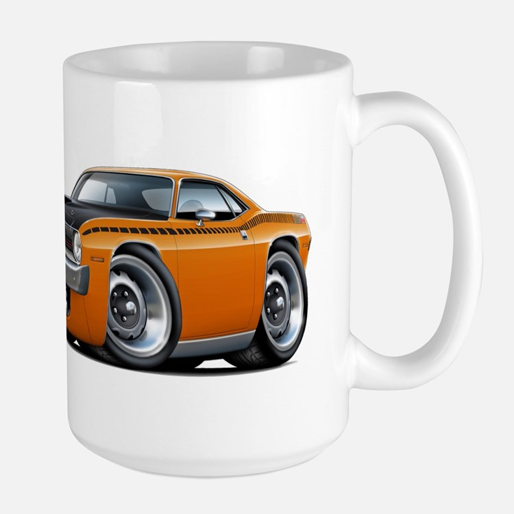 1970 AAR Cuda Orange Car Large Mug