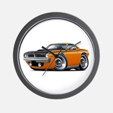 1970 AAR Cuda Orange Car Wall Clock
