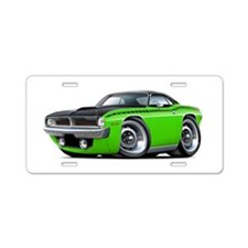 1970 AAR Cuda Lime-Black Car Aluminum License Plat