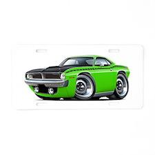 1970 AAR Cuda Lime Car Aluminum License Plate